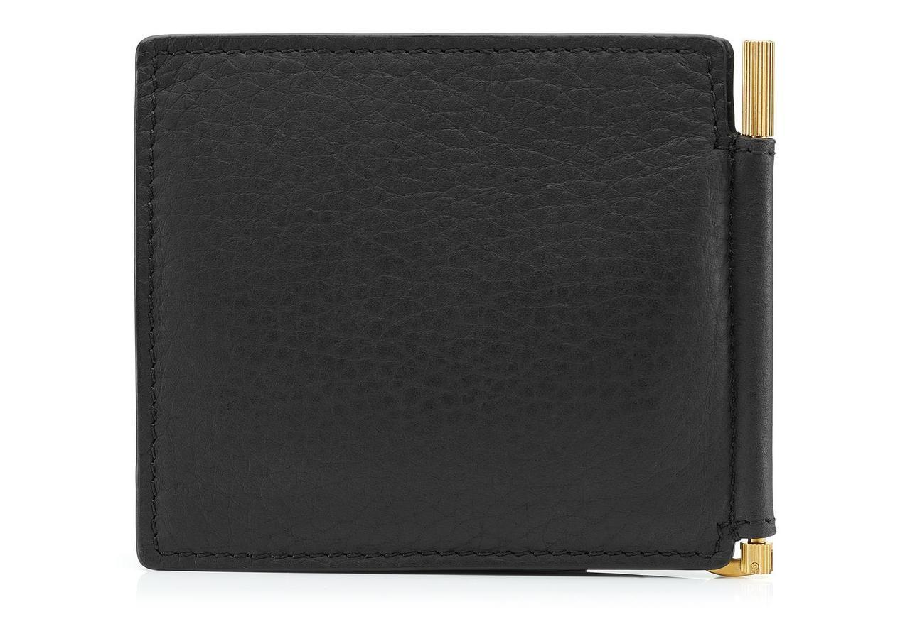 Tom Ford Grained Leather Money Clip Wallet Price Breaker