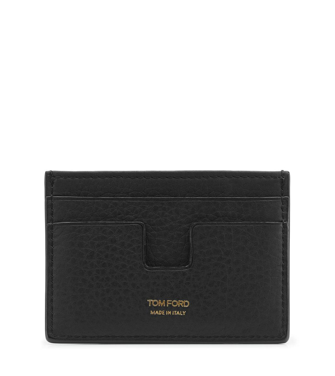Tom Ford Black Grained Leather Card Holder Price Breaker