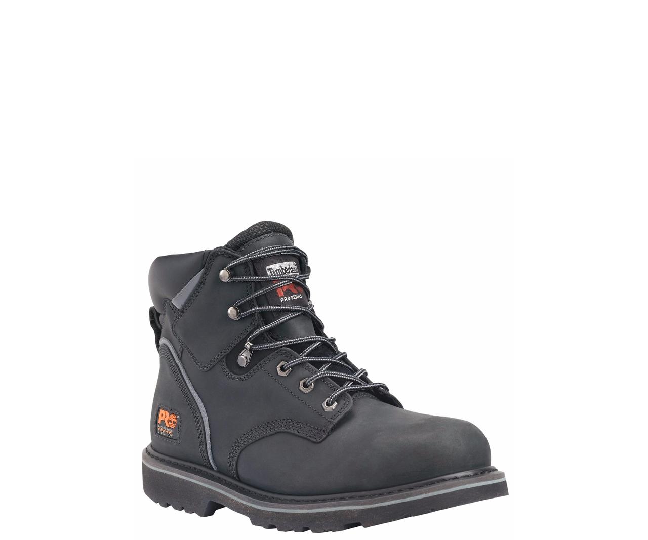 Timberland Pro Pit Boss 6″ Black Steel Toe Work Boots