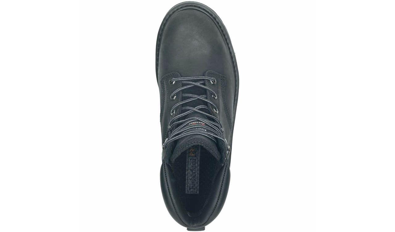 "Timberland Pro Pit Boss 6"" Black Steel Toe Work Boots"