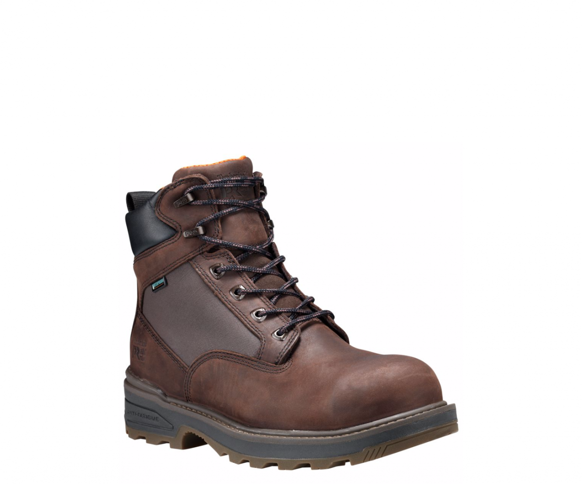 """Timberland Pro Resistor 6"""" Brown Comp Toe Work Boots"""