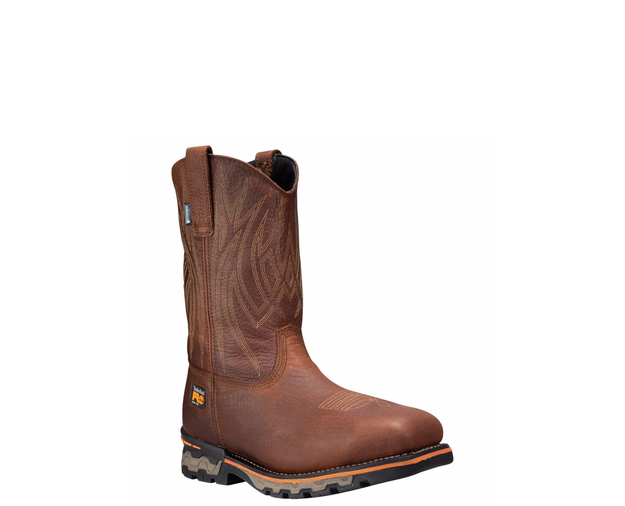 Timberland Pro AG Boss Square Brown Waterproof Alloy Toe Pull-On Work Boots