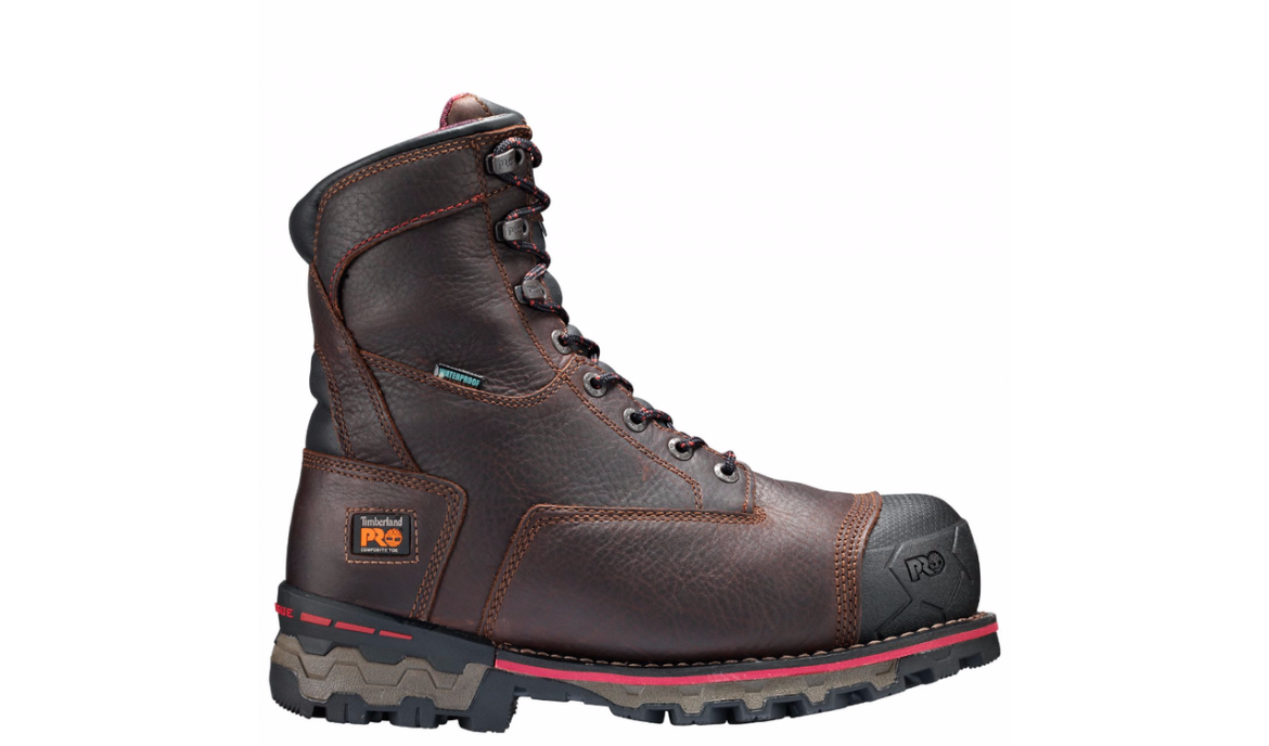 Timberland Pro Boondock 8″ Brown WI Comp Toe Work Boots