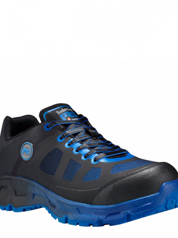 Timberland Pro Velocity Black Synthetic/Blue Toe Work Boots