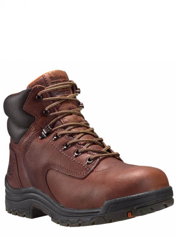 "Timberland Pro 6"" Titan Coffee Full-Grain Alloy Toe Work Boots"