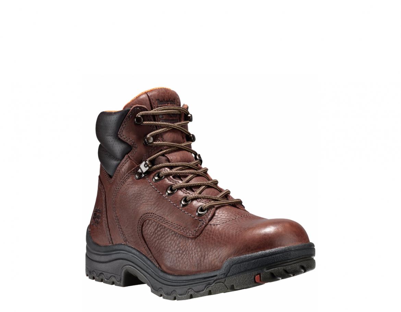 Timberland Pro 6″ Titan Coffee Full-Grain Soft Toe Work Boots