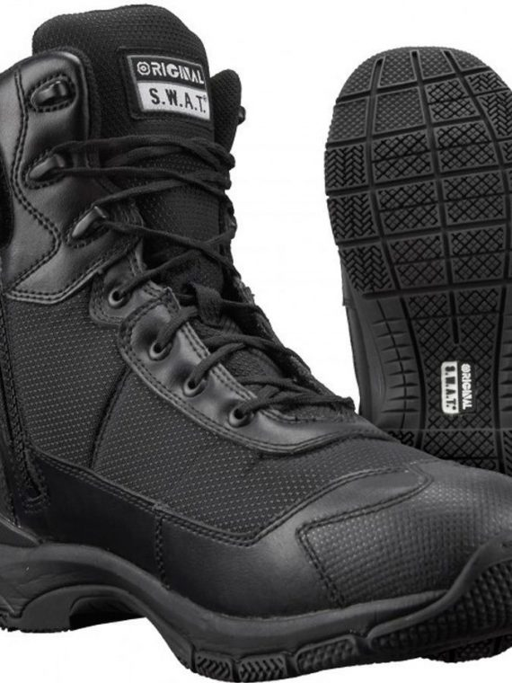 "Original S.W.A.T H.A.W.K. 9"" Side Zip Tactical Boots"