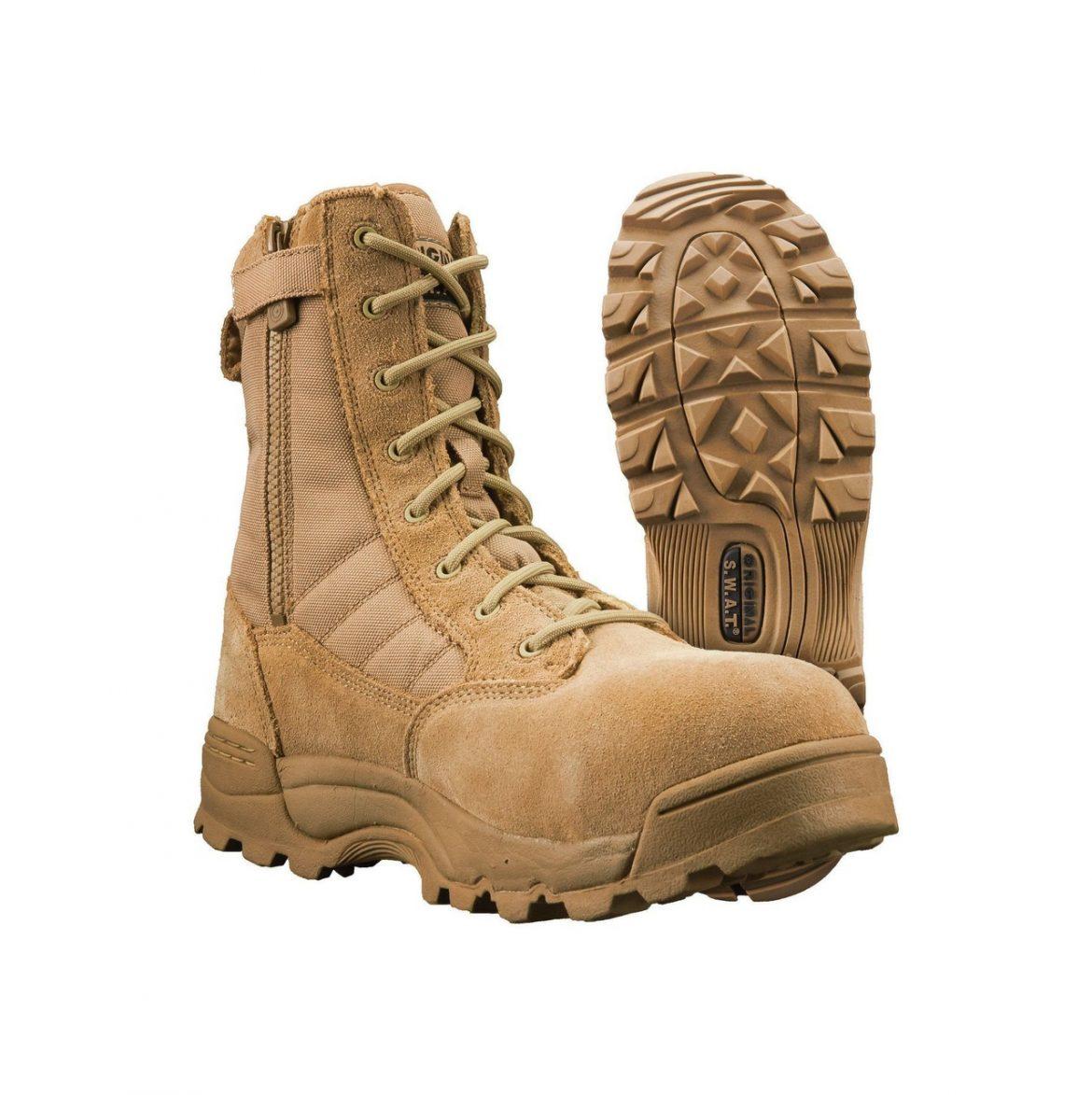 "Original S.W.A.T Classic 9"" Side Zip Tactical Boots"