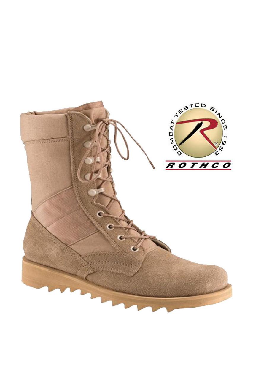 Rothco G.I. Type Ripple Sole Desert Tan Jungle Boots - Price-Breaker 32c2d61a635