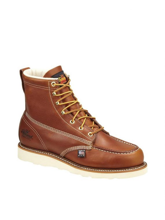 Thorogood 6″ American Heritage Moc Toe Wedge Tobacco Work Boots