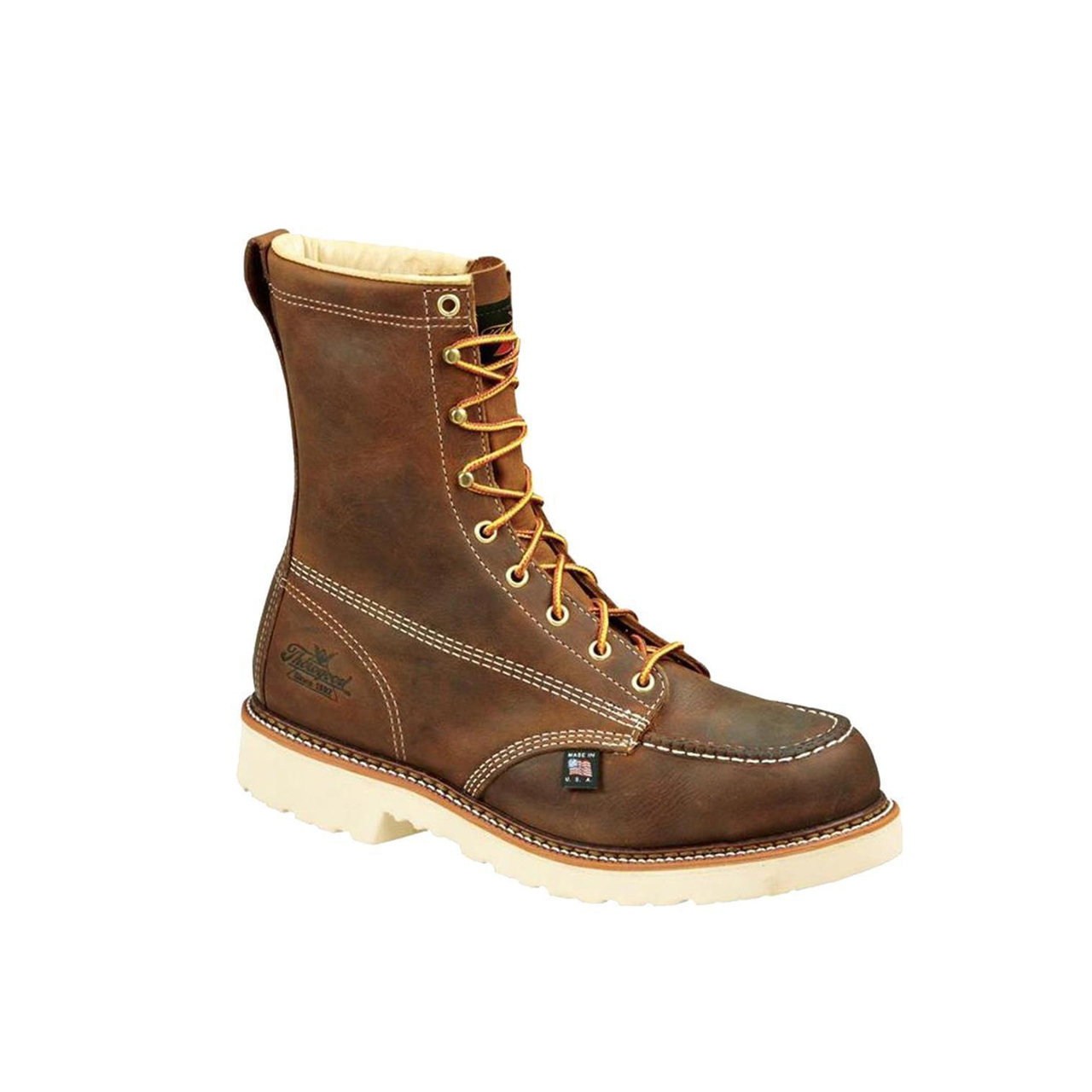 Thorogood 8″ American Heritage Moc Toe Bronze Brown Work Boots