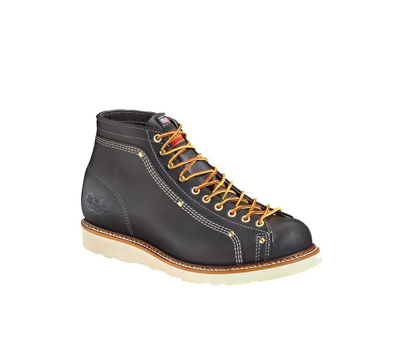 thorogood american heritage black lace up work boots