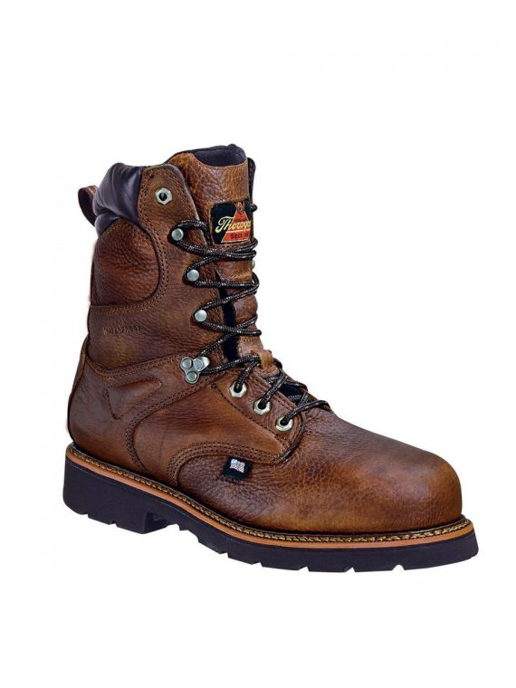 Thorogood 8″ Waterproof  Brown Lace-Up Boots